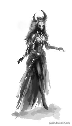 Horned Shaman Concept by ~Aydiah on deviantART