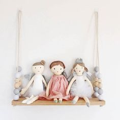 "131 Likes, 5 Comments - ✨NANA HUCHY (@nanahuchy) on Instagram: ""What a perfect match, @winterandvine has added our dolls to her gorgeous swing shelf collection! …"""