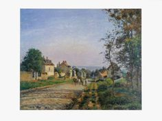 Landscape at Louvisiennes by Camille Pissarro