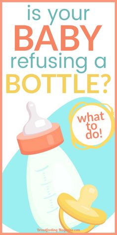 Baby refusing a bottle? These breastfeeding tips and advice with help introduce your breastfed baby to the bottle without tears! #breastfeeding #supplementing #newmoms #momtips Breastfeeding Supplements, Breastfeeding Positions, Breastfeeding Tips, Baby Cough, Exclusive Breastfeeding, Babies First Year, Return To Work, Bottle Feeding, Working Mother