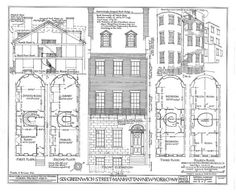 The 18 best wall art images on pinterest blueprint drawing 6 greenwich street manhattan ny architectural print blueprint drawing malvernweather Images