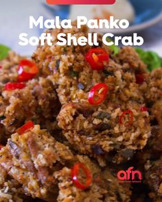 Crab Recipes, Asian Recipes, New Recipes, Cooking Recipes, Pan Fried Soft Shell Crab Recipe, Squid Dishes, Soft Crab, Crabs, Food Network Recipes