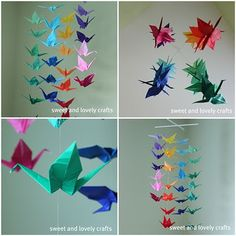 sweet and lovely crafts: origami crane mobile
