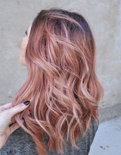 Rose Gold Hair Color Ideas For 2017 - 2016