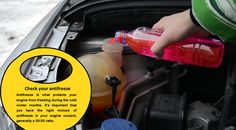 Check the antifreeze  Use an antifreeze tester to draw a few drops of antifreeze from the radiator or overflow. This will give information on the current freezing point of your car's antifreeze. Check the normal lowest temperature for your area, and add more antifreeze as needed to make sure your engine block does not freeze.  #wintertyres