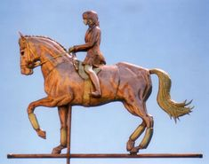 Horse Weathervane - Dressage Passage with Rider - Handmade Of Copper