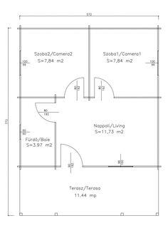Korondi Árcsó - Balaton 1 B Unique House Design, Floor Plans, Home Architecture, Floor Plan Drawing, House Floor Plans