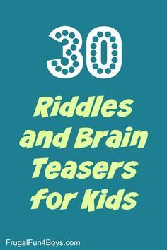 30 Riddles and Brain Teasers for Kids - PRINTABLE! Perfect for road trips lunch boxes or just having fun. Senior Activities, Teaching Activities, Activities For Kids, Elderly Activities, Dementia Activities, Physical Activities, Brain Teasers Riddles, Brain Teasers For Kids, Riddles With Answers