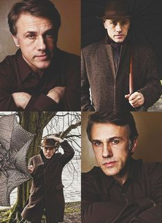 Christoph Waltz - this photo session just reinforces my crush on him.