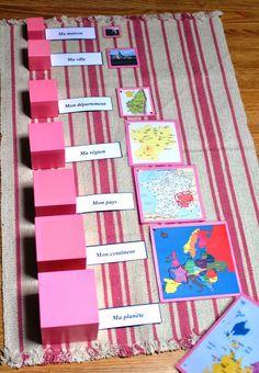 """ ~ La petite vie d'Ilhan et Mélia (ou la vie sans école) - Hayat Bilgisi Montessori Preschool, Montessori Education, Montessori Materials, Maria Montessori, Kids Education, Preschool Crafts, Geography For Kids, Teaching Geography, Where Do I Live"