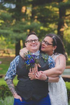 Cheri + Rachel's Same Sex Morris Museum Wedding || New Jersey Weddings || BG Productions Photography || www.bgproonline.com #twobrides #offbeatbrides #gaywedding #samesexwedding