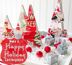 """""""Happy Holidays"""" dimensional Christmas centerpiece"""