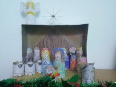 Toilet Roll Tube Christmas Nativity Scene
