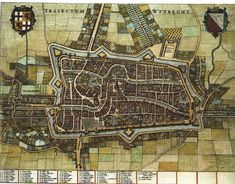 Utrecht 1652 #Joan Bleau #citymaps #Republic of the Netherlands
