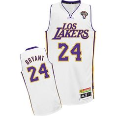 a3700507bad Kobe Bryant Authentic In White Adidas NBA Los Angeles Lakers Latin Nights   24 Men s Jersey