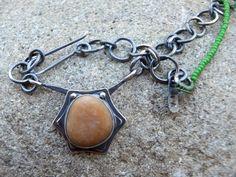 Sunflower / Nicole Ringgold silversmith / natural beach rock jewelry