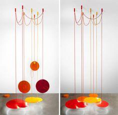 Vaulotèvre created Nymphéa, a very dramatic hanging light fixture, for Paris-based Galerie Gosserez.