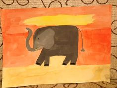 My elephant painting. Water color is realy relaxing and beautiful!