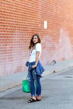 Denim On #Denim In #HudsonJeans by the @lastofthemoheak in our Jude Boyfriend Jeans. #ootd