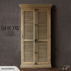 ANCIENT GREEK ARCHITECTURAL STYLE SHUTTER CABINETS