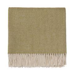 Blankets, Corcovado, Alpaca wool, Moss green, 130x170 cm from URBANARA | Urbanara