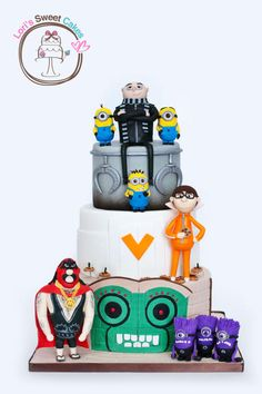 My Fave Despicable Me Cake Ever - by Lori's Sweet Cakes on CakesDecor - http://cakesdecor.com/cakes/111450-despicable-me