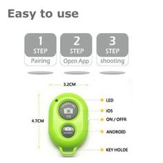 Shutter Remote Button in SPG green!  $7.99 Amazon Prime   Amazon.com: Bluetooth Wireless Remote Control Camera Shutter Release Self Timer for IOS Android Smartphone Tablet Iphone 6 5 5s 5c 4s 4, Ipad 5 4 3 Ipad Air Mini, Sony Xperia, HTC New One and X, Samsung Galaxy S3 S4 S5 Note 1 2 3 Galaxay Tab 2 Note8 10.1, Google Nexus 4 5 7 & all Bluetooth Compatible Products (Black): Cell Phones & Accessories