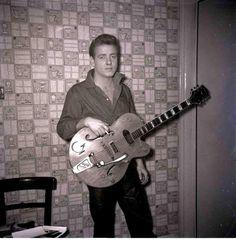 Eddie Cochran with Hollowbody Gretsch Guitar #EddieCochran #Rockabilly #Music…