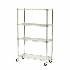 Amazon.com: New Chrome Commercial 4 Layer Shelf Adjustable Steel Wire Metal Shelving Rack: Home Improvement