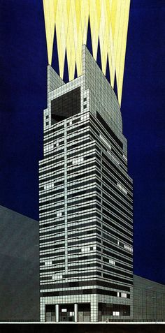 Frederic Schwartz, Late Entry to the Chicago Tribune Tower Competition, 1980.