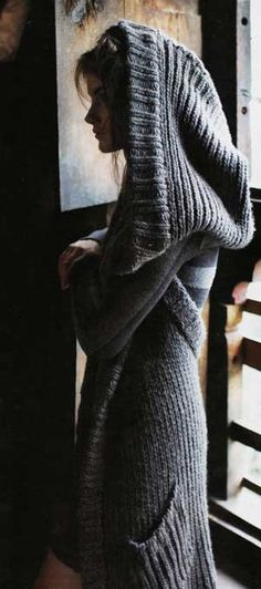 from Anthropologie, apparently? Must find similar sweater pattern - I WANT THAT HOOD