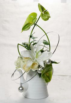 Anthurium and white Lilly