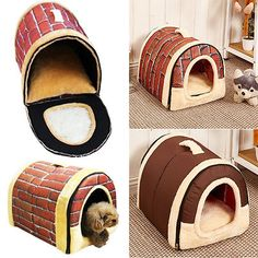 Soft Pet Dog Bed House Kennel Mat Pad Warm Washable Puppy Cat Cushion SE