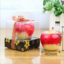 Anniversaire / Wending / de noël Red Apple forme bougie cire Fruit bougie parfumée décoration Greet cadeau(China (Mainland))