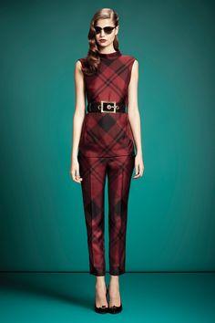 Blake Lively wearing Gucci Pre-Fall 2013 Top and Pants.