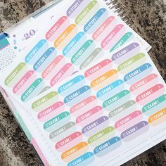 Students Pills (Exams /Study /Test) + Customizable Headers Sticker Planner by FasyShop on Etsy