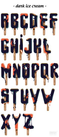 Typeface - dark ice cream by CODE501 - CREATIVE BAND ! , via Behance typography
