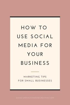 #scc Social media tips for beginners: find out how to use Facebook, Instagram, Twitter and Pinterest as a business, what are the differences between these social media platforms and more. #socialmedia Facebook Business, Online Business, Business Education, Small Business Marketing, Business Tips, Creative Business, Social Media Plattformen, Social Media Marketing, Digital Marketing Strategy