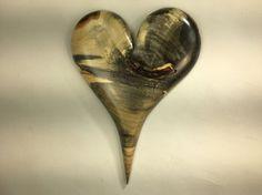 Wooden heart personalized Wedding gift wall by TreeWizWoodCarvings