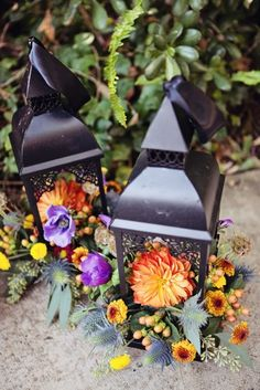 13 Unique Ways to Decorate With Lanterns at Your Fall Wedding via Brit + Co.