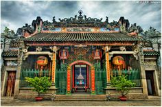 Ba Thien Hau Pagoda in the oldest Chinese pagoda in Vietnam, since 1760 by the chinese from Canton, China.