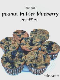 flourless pb blueberry muffins recipe