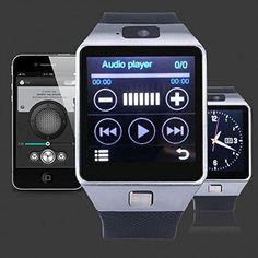 Smartwatch -Tier X: Ceas-telefon (MicroSim) cu Bluetooth, Touchscreen, compatibil iOS si Android! Acum, la doar 279 RON in loc de 799 Technology Gifts, Wearable Technology, Smartwatch Ios, Bluetooth, Android, Audio Player, Smart Technologies, Fitness Tracker, Calculator