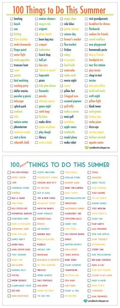 100 Things To Do This Summer 100 More Things To Do This Summer. - Photography Books - Ideas of Photography Books - 100 Things To Do This Summer 100 More Things To Do This Summer. Great Ideas Create Your Own List. What To Do When Bored, Things To Do When Bored For Teens, 100 Things To Do, Summer Things, Fun Things, Girl Things, Things To Do With Your Boyfriend, Summer Feeling, Summer Bucket