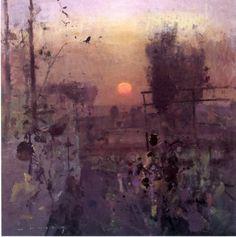 Autumn Garden Birdsong by Fred Cuming R.A.