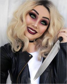 What's your fave horror film💀 . Just call me Tiffany Valentine, Where's Chucky and when's my wedding 🔪👰🏼 . Bride of Chucky Inspo-… Horror Halloween Costumes, Halloween Kostüm, Halloween Outfits, Horror Movie Costumes, Bride Of Chucky Makeup, Bride Of Chucky Costume, Chucky And His Bride, Chucky And Tiffany Costume, Tiffany Bride Of Chucky