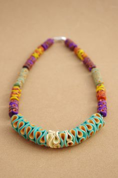 Polymer Clay Necklace Coralia   by Carina's Photos and Polymer Clay