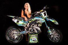 Scrub Designz Kawasaki Graphics Decals Kit Klx 250 2009