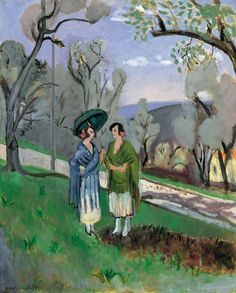 Conversation Under the Olive Trees, 1921, by Henri Matisse (French, 1869–1954).