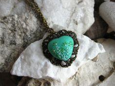 Mint Necklace Spring Mint Green Jewelry Green by LandOfJewellery, $25.00